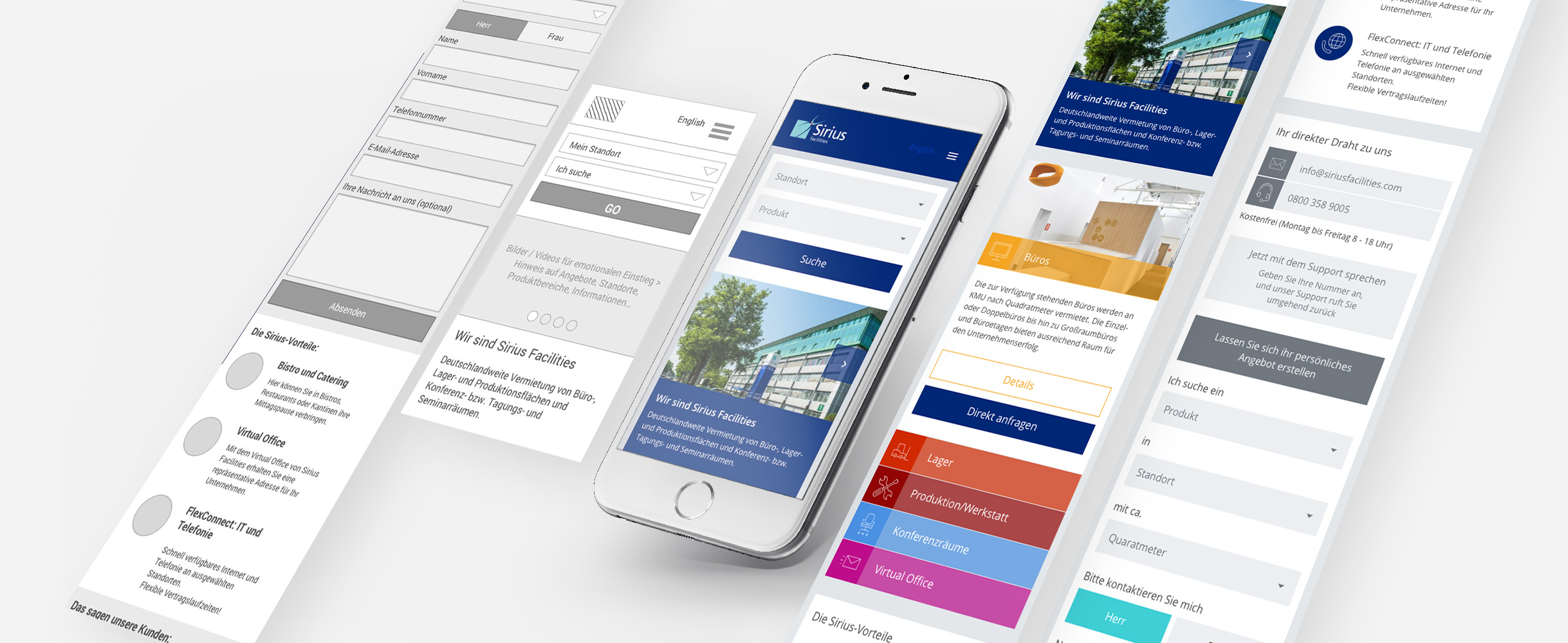 Sirius Facilities Mobile Site